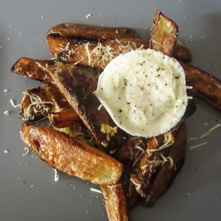 posh egg and chips