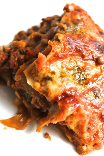 5 Ingredient Easy Lentil Lasagne