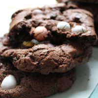 Dark Chocolate Mini Egg Cookies