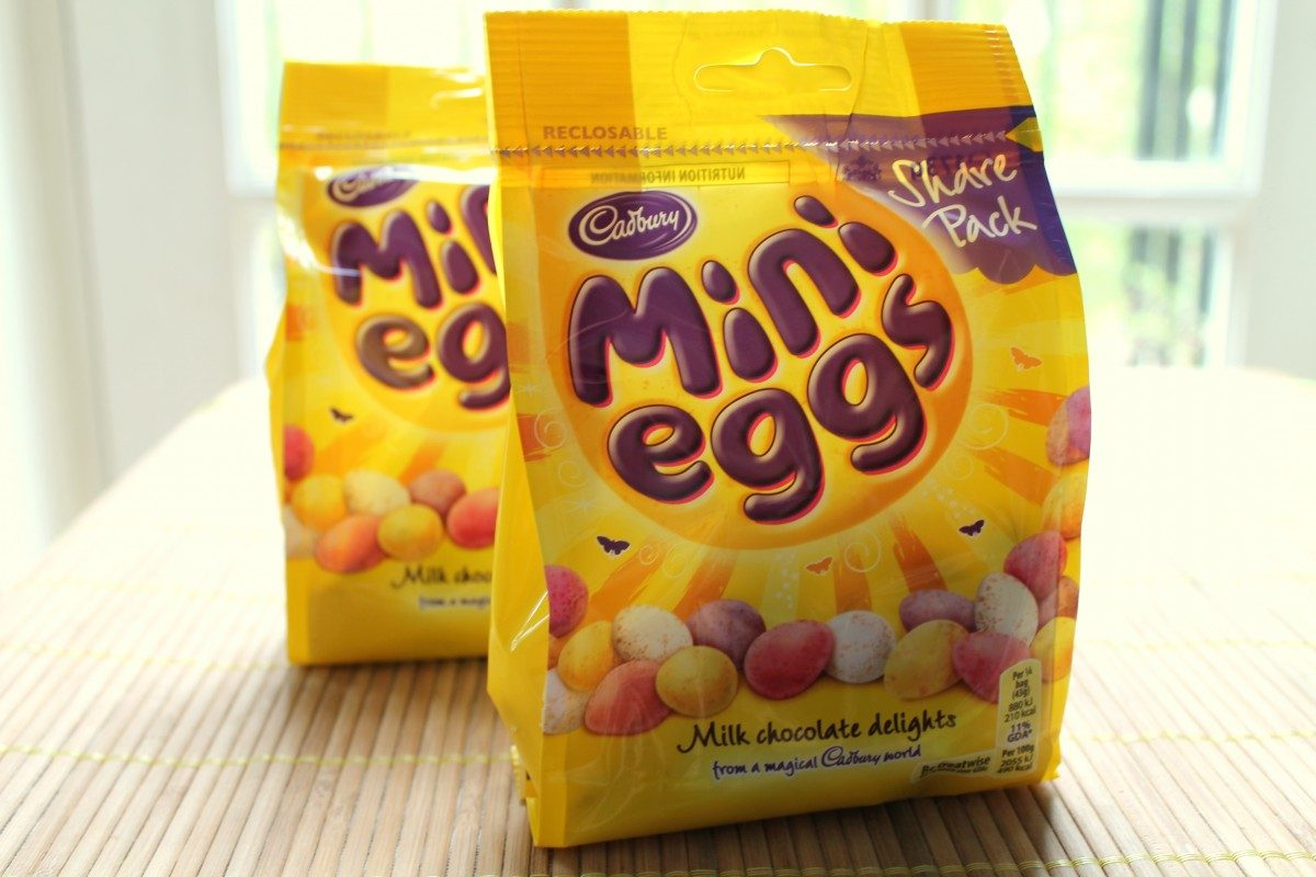 bags of cadbury's mini eggs