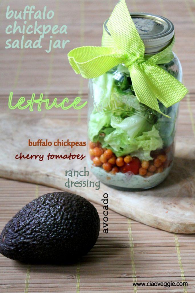 buffalo chickpea salad jar