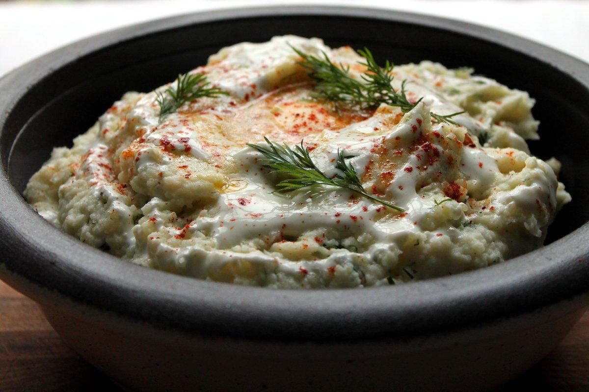 dill yogurt mashed potatoes