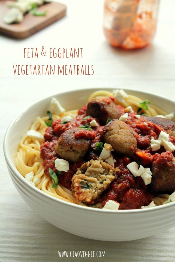 feta and eggplant vegetarian meatballs