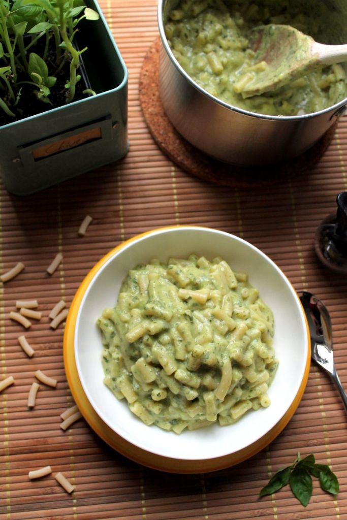 green goddess avocado macaroni and cheese