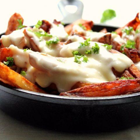 fondue cheese fries