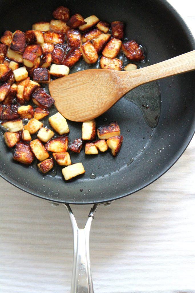Stir fried paneer cheese