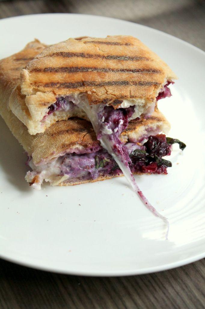 blueberry mozzarella panini