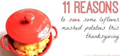 What to do with those leftover mashed potatoes. And/or a reason to make extras and save some. Either way!