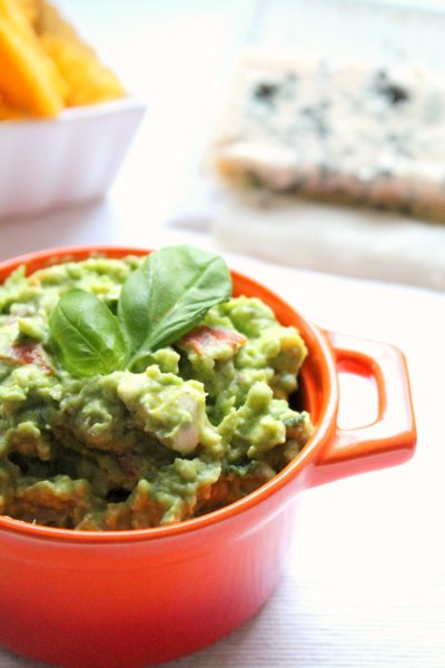 Blue Cheese Guacamole with Basil