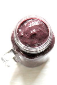 Nervous about green smoothies? Want to fool your kids into eating more greens? This spinach-packed smoothie is deceptively purple thanks to all the blueberries.