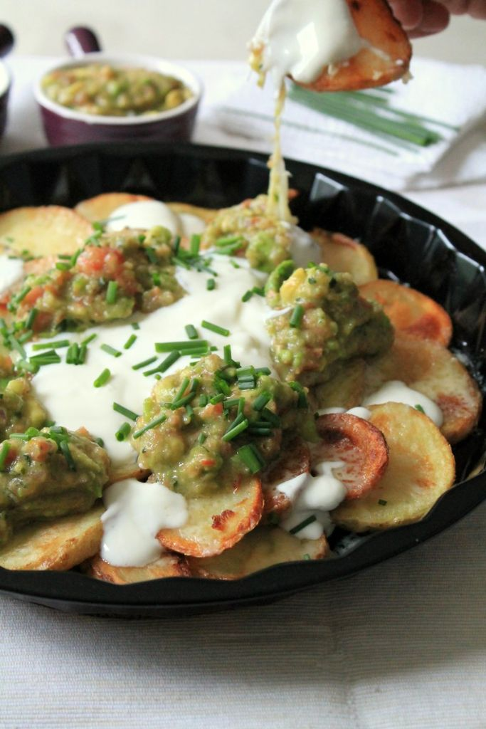 Simple skinny irish nachos. Low fat, quick and easy to prepare.