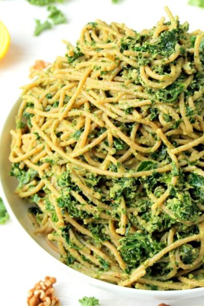 Kale & Avocado Pesto Pasta