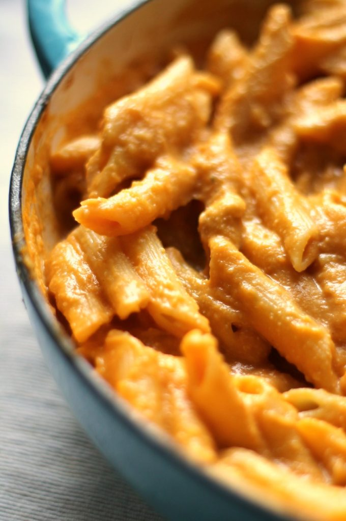 This decadent, creamy butternut squash pasta sauce has a hit of truffle oil to elevate it to luxurious perfection. It's dairy free and vegan, using cashew cream, and has amazing depth of flavor thanks to a few special ingredients. This is a healthier alternative to a dairy cream sauce with zero compromise on taste. You will love it!