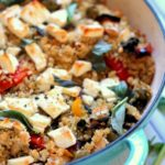 Roasted Vegetable & Feta Cheese Quinoa Bake