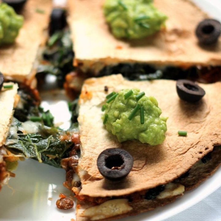 These vegetarian quesadillas are simple to throw together for an easy, healthy midweek dinner!