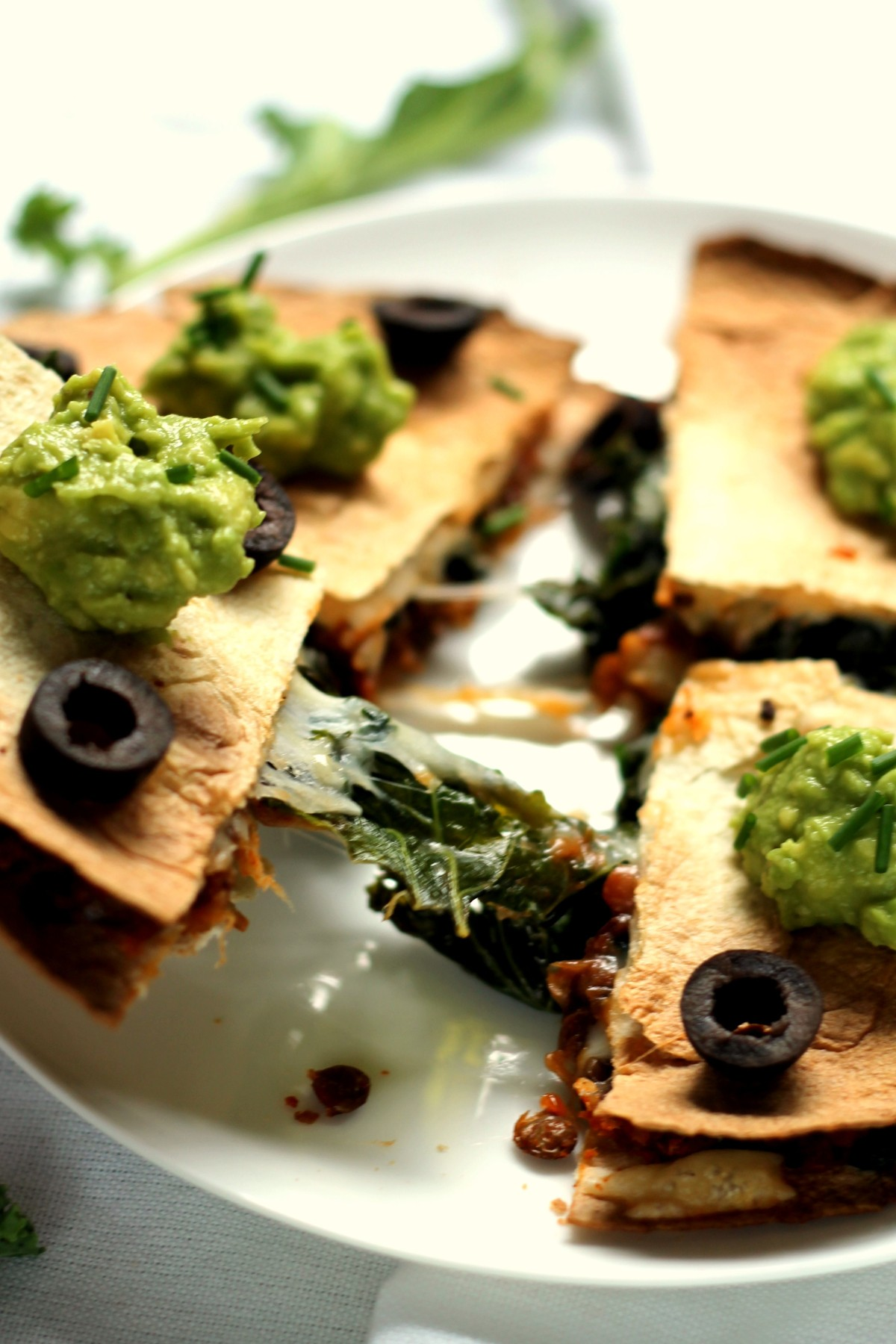 Lentil, kale and provolone quesadillas | Ciao Veggie