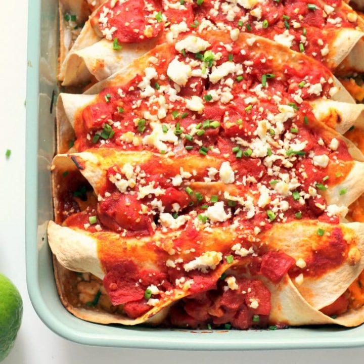 Feta Cheese & Sweet Potato Enchiladas