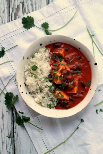 Easy Paneer & Kidney Bean Coconut Curry