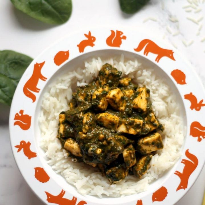 Palak Paneer Curry for Babies, Toddlers & Kids