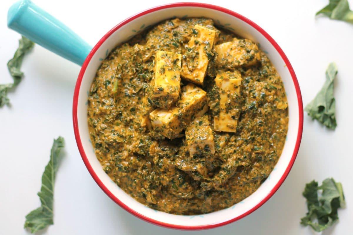 Kale Paneer Curry Happy Veggie Kitchen