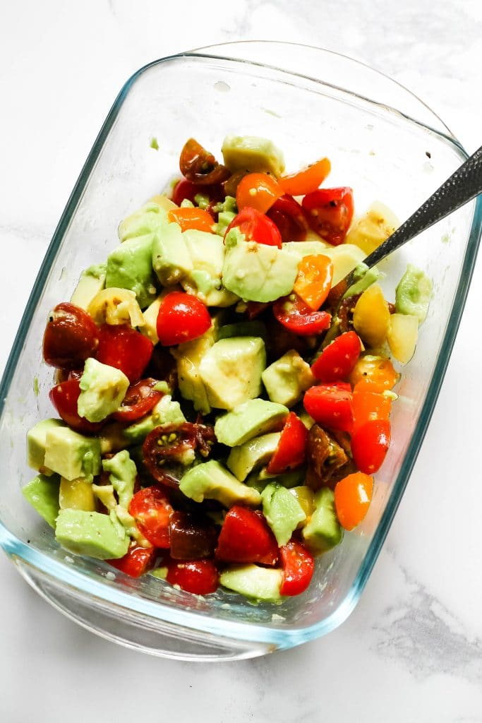 Avocado and cherry tomato salsa