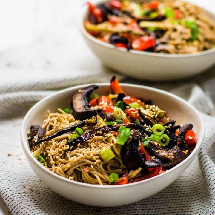 Roasted Veggie Noodle Bowl