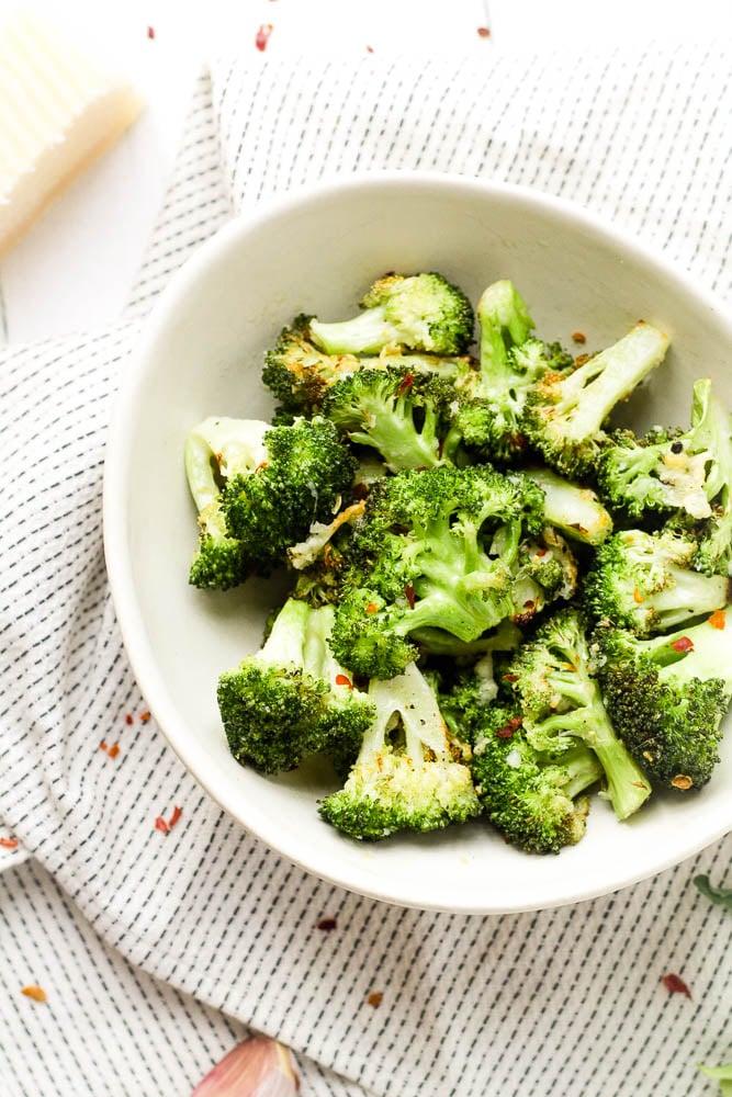 Air Fryer Broccoli Parmesan Happy Veggie Kitchen