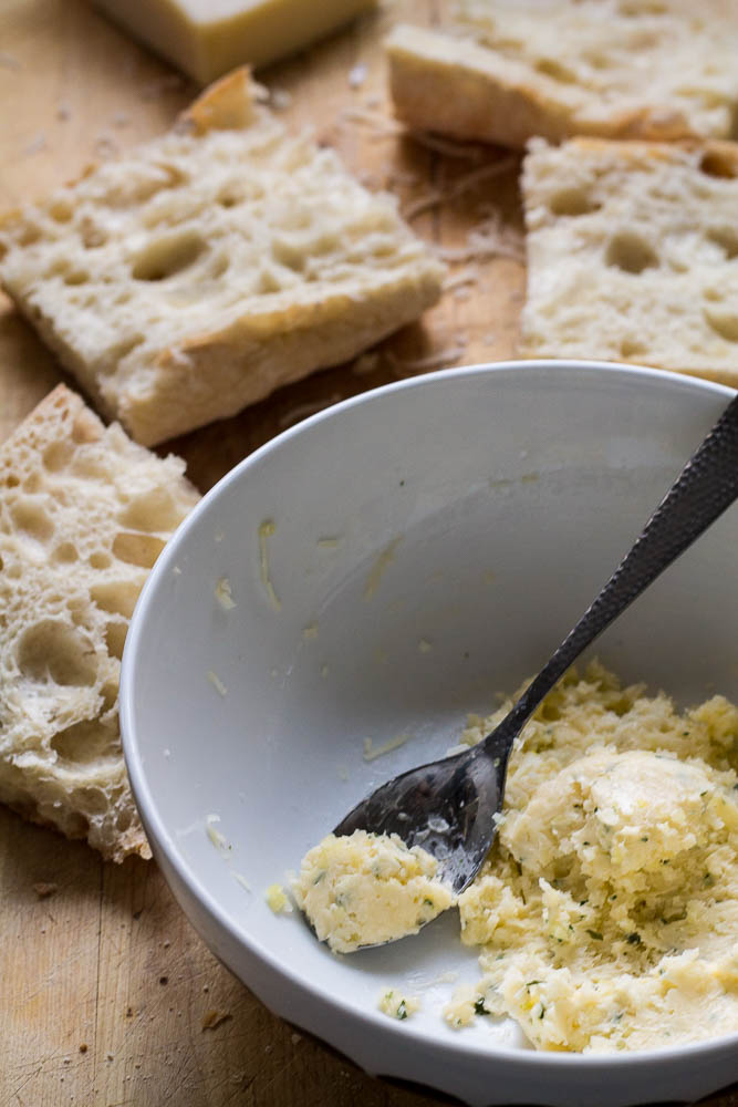 Garlic butter and bread
