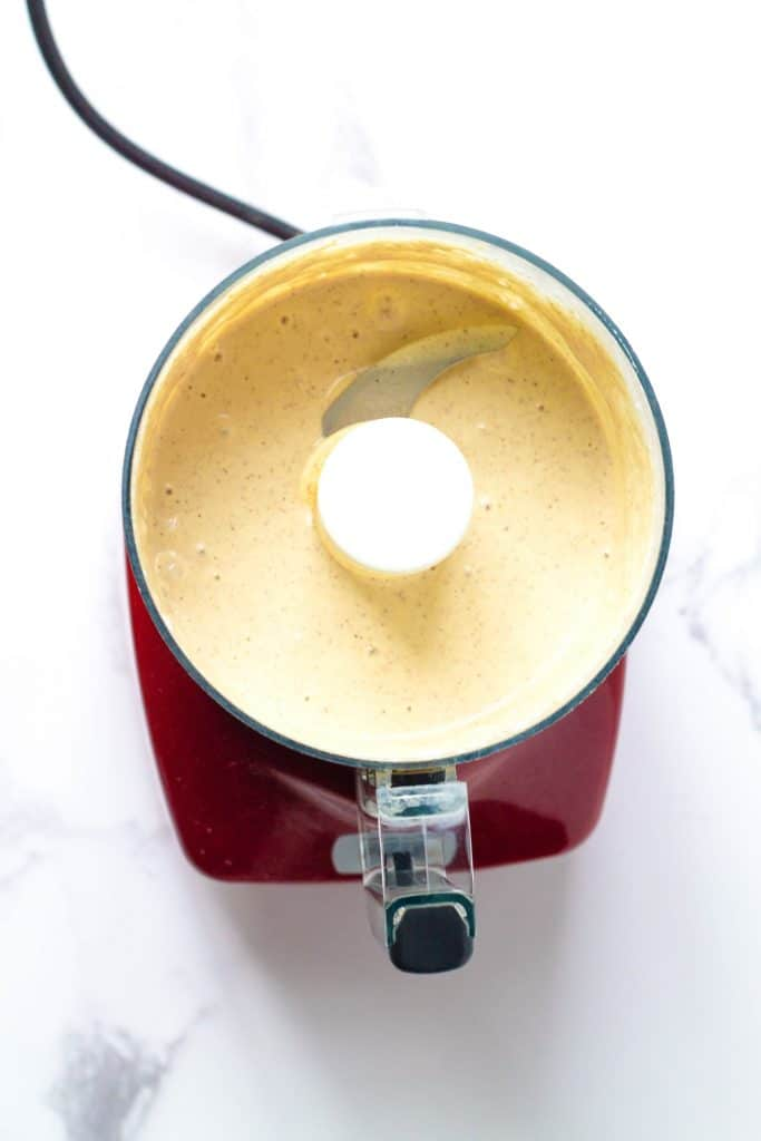 Almond butter pudding in a blender