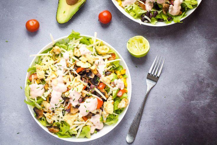 Roasted Veggie Taco Salad
