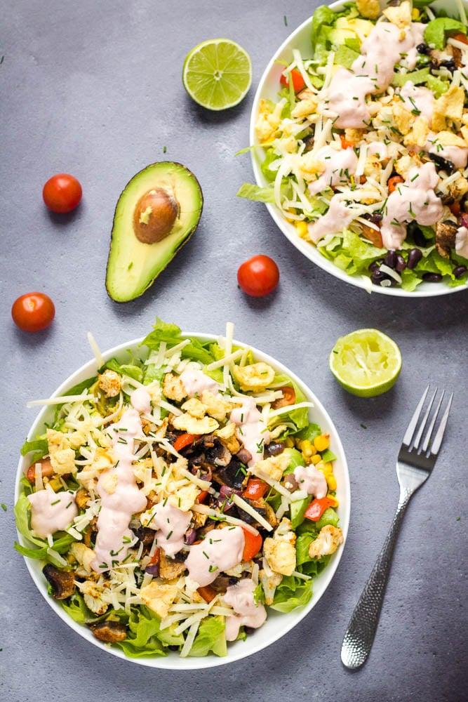 Vegetarian Taco Salad Recipe Healthy