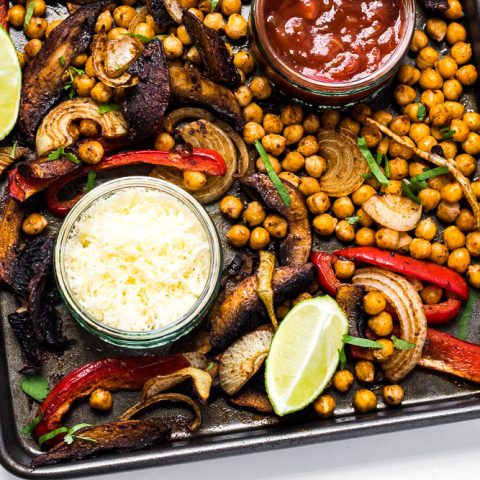 Roasted Portabella & Chickpea Fajitas
