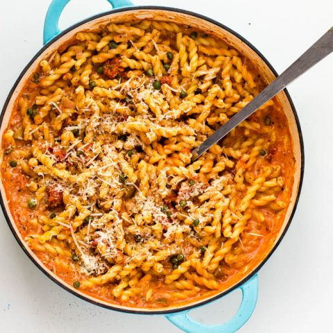 Creamy Tomato Pasta Sauce with Capers