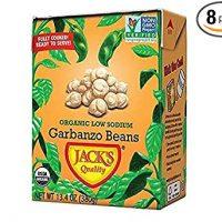 Jack's Organic Beans - 13.4oz Eco-Friendly Carton 8 Pack (Garbanzo)