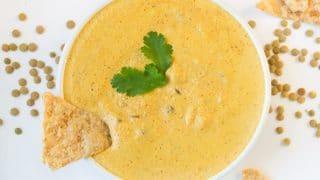 Slow Cooker Vegan Chili Cheese Lentil Dip