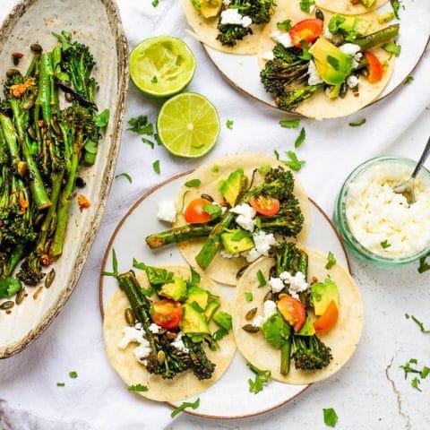 Baby Broccoli Tacos