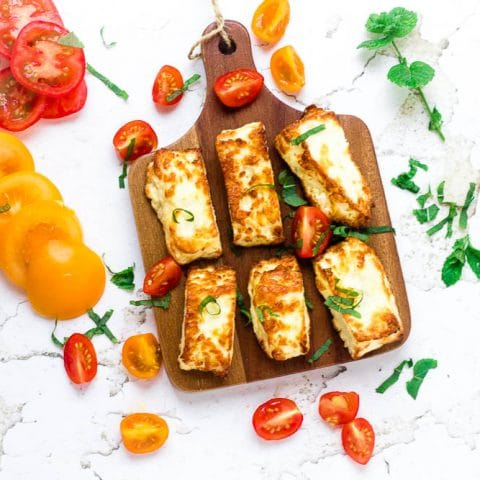 Air Fryer Halloumi Cheese