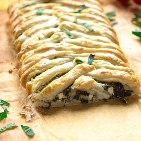 Puff Pastry Spanakopita Braid
