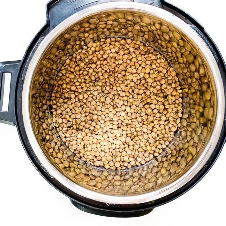 Instant Pot Green Lentils