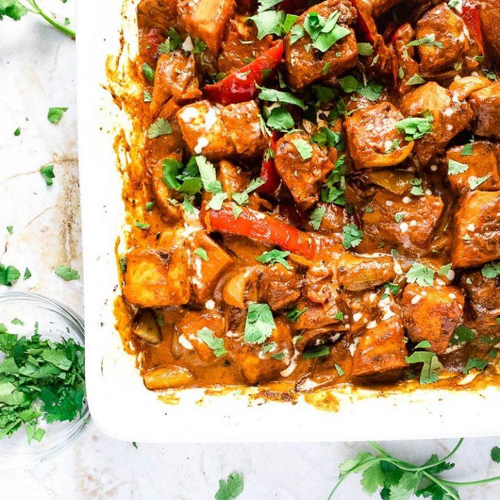 Oven Roasted Sweet Potato Tikka Masala