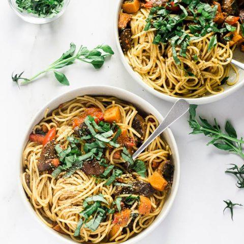 Roasted Vegetable & Truffle Oil Pasta