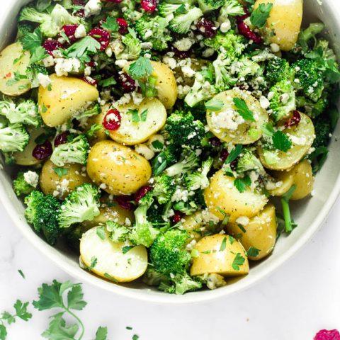 Broccoli Potato Salad with Blue Cheese
