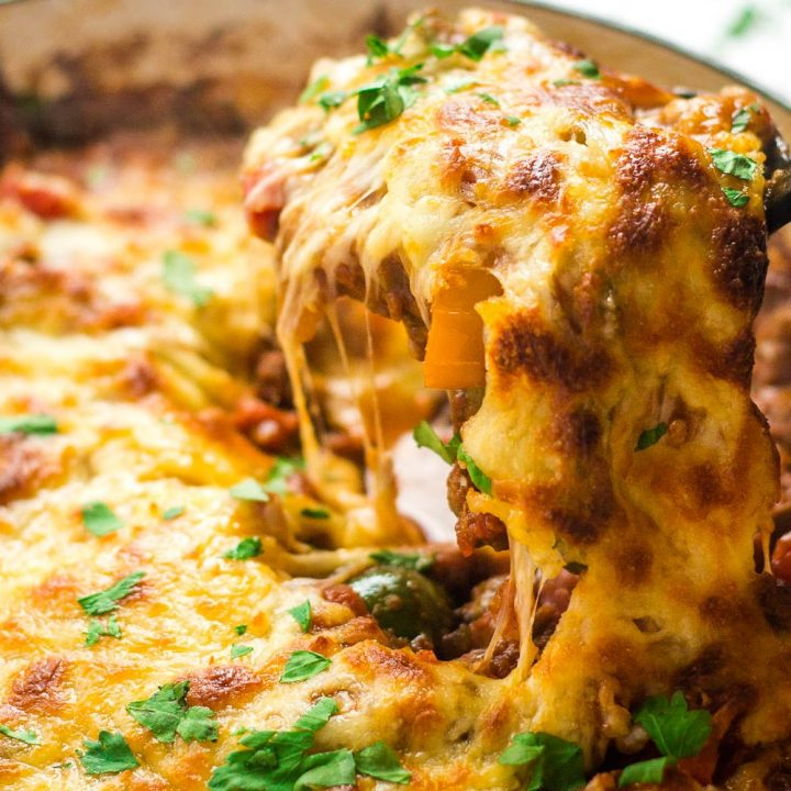 Vegetarian Stuffed Pepper Casserole